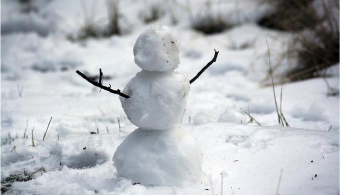 pupazzo neve triste